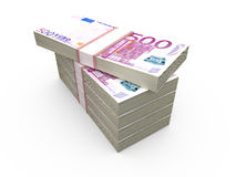 Stack of Euro Bills Stock Photography