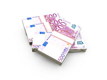 Stack of Euro Bills Royalty Free Stock Photography