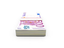 Stack of Euro Bills Stock Images