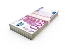 Stack of Euro Bills Stock Image