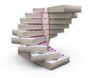 Stack of Euro Bills Stock Photos