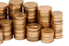 Stack of euro cent coins Royalty Free Stock Photos