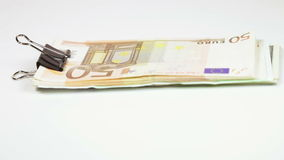Stack euro with clip stock footage