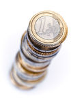 Stack of Euro coins Royalty Free Stock Image