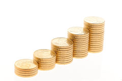 Stack of Euro coins Royalty Free Stock Images