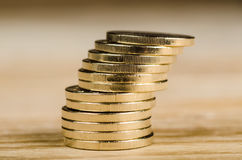 Stack of Euro coins Stock Image