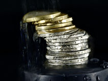 Stack of Euro coins Royalty Free Stock Photo