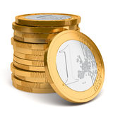 Stack of Euro coins. On white background royalty free illustration
