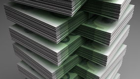 Stack of Euro stock footage
