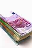 Stack of euro money Stock Image