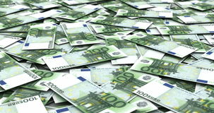 Stack of Euro stock video