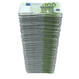 Stack of european currency. Isolated render on a white background Stock Photos