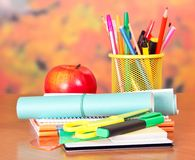Stack of exercise books Royalty Free Stock Image