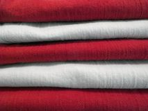 Stack of fabric Royalty Free Stock Photography