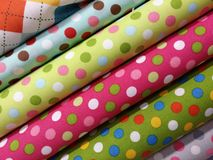 Stack of fabric Royalty Free Stock Images