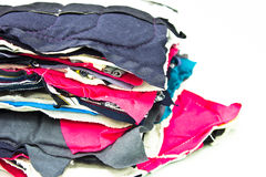 Stack of fabric Royalty Free Stock Photo
