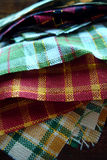 Stack of Fabric for Quilting Stock Photos