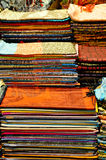 A Stack With Fabrics stock image