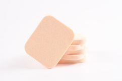 Stack of face powder sponge Stock Images