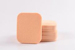 Stack of face powder sponge Royalty Free Stock Photo