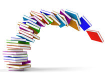 Stack Of Falling Books Royalty Free Stock Photos