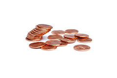 Stack of Falling Pennies Royalty Free Stock Image