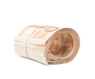 Stack of fifty euro bank notes Royalty Free Stock Images