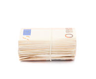 Stack of fifty euro bank notes Royalty Free Stock Photography