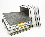 Stack of File Folders. Pile of File Folders on white Background Royalty Free Stock Photography