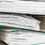 Stack of file folders Stock Image
