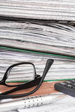 Stack of file folders with documents, Stock Photos
