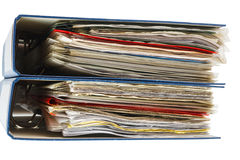 Stack of file folders Royalty Free Stock Image
