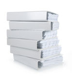 A stack of file Office binder. On white background Stock Photos