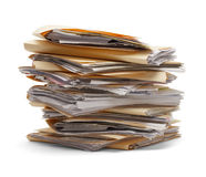 Stack Of Files Stock Photos