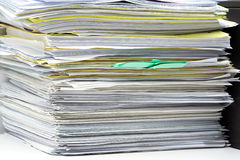 Stack of files. And paperwork Stock Image