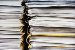 Stack of files and folders Stock Photos