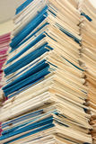 Stack of files full of documents Stock Photos