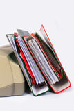 Stack of files to a printer Royalty Free Stock Image