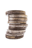 Stack of Film Cans, Side View with Clipping Path Stock Photos