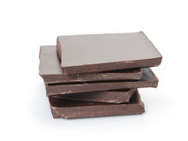 Stack of fine dark chocolate Royalty Free Stock Image