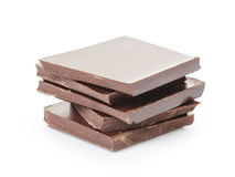 Stack of fine milk chocolate Stock Photo