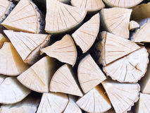 Stack with fire wood. For a fireplace close up Royalty Free Stock Photos