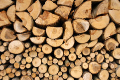 Stack with fire wood Royalty Free Stock Photos