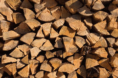 Stack of fire wood Royalty Free Stock Photos