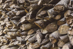 Stack of fire wood. Background of fire wood stack Royalty Free Stock Images
