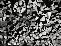 Stack of fire wood Stock Images