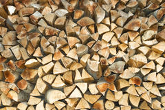 Stack of firewood. Abstract background stock photo