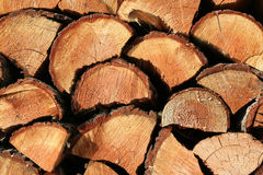A stack of firewood Royalty Free Stock Photo
