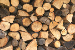 Stack of firewood Stock Photos