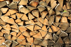 Stack of firewood. Firewood stacked on each other Stock Photo